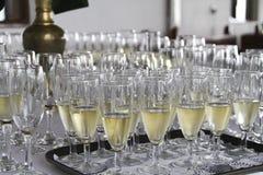 Champagne en verre Photo libre de droits