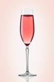 Champagne en verre de rose d'og Photos libres de droits