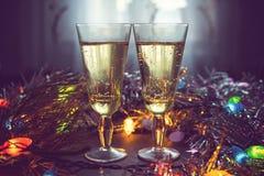 Champagne en verres Image stock
