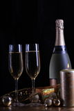 Champagne en verres Photo stock