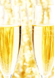 Champagne et or Image stock