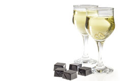Champagne et chocolat Images stock