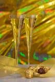Champagne et chocolats images libres de droits