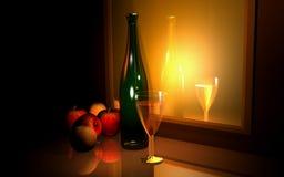 Champagne et fruits Photos libres de droits