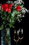 Champagne et roses Photo libre de droits