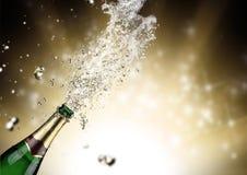 Champagne-explosie Royalty-vrije Stock Foto's