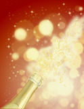 Champagne explosion. In abstract background vector illustration