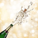 Champagne explosion. Close up of champagne explosion Stock Photos