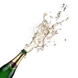 Champagne explosion. Close up of champagne explosion Royalty Free Stock Photos