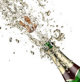 Champagne explosion. Close up of champagne explosion Stock Images