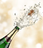 Champagne explosion Stock Photo