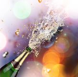 Champagne explosion. Close-up of champagne explosion Royalty Free Stock Image