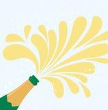 Champagne explosion. Background,Illustration art Stock Images