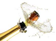 Champagne-Explosion Lizenzfreie Stockbilder