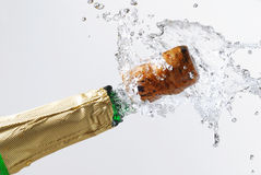 Champagne explosion Royalty Free Stock Image