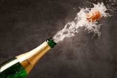 Champagne Explosion - Celebration New Year. Or Chrismas stock photos