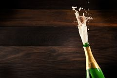 Champagne Explosion - Celebration New Year. Or Chrismas stock photography
