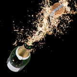 Champagne explosion. Close-up of champagne explosion. Celebration theme Stock Photo