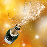 Champagne explosion. Close-up of champagne explosion. Celebration theme Stock Image
