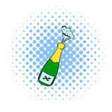 Champagne explosion icon, comics style Stock Photography