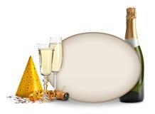 champagne för blankt kort Royaltyfri Bild