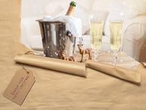 Champagne för 2012 jul Royaltyfri Foto