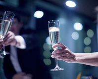 Champagne för parti för förbindelse för bröllopmottagande Arkivfoto