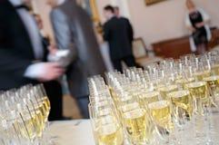 Champagne för presentation. arkivbilder