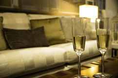 Champagne för två Royaltyfri Fotografi