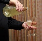 Champagne für zwei Stockbild