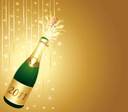Champagne festive background. Champagne golden starry festive background Royalty Free Stock Images
