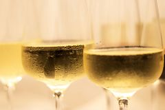 Champagne Filled Glasses fotos de archivo