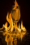 Champagne fire antacid Stock Image