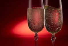 Champagne-Flöten Stockfotos