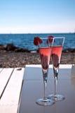 Champagne-Flöten Lizenzfreie Stockfotografie