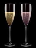 Champagne-Flöten Stockfotografie