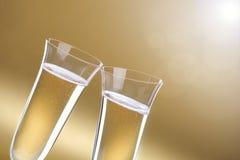 Champagne-Flötetoast Lizenzfreie Stockbilder