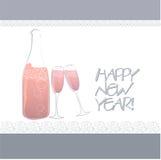 Champagne-Flasche und Gläser Lizenzfreie Stockfotografie