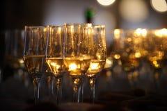 Champagne Flautes Imagens de Stock Royalty Free