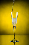 Champagne flows Stock Photo