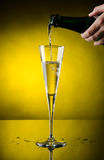 Champagne flows Royalty Free Stock Photos