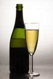 Champagne and flute Royalty Free Stock Photography
