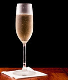 Champagne flute  on black Stock Photography