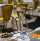 Champagne Flute. Image of a Champagne Flute on a tray Stock Images