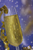 Champagne flute on party Stock Image