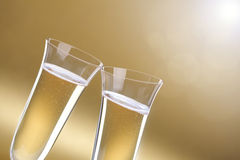 Champagne flute toast Royalty Free Stock Images