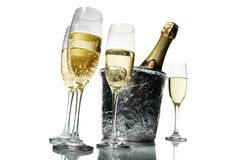 Champagne flutes Stock Photography