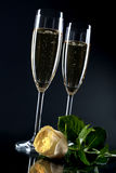 Champagne flutes Stock Image