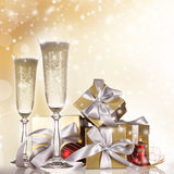 Champagne flutes Stock Photos