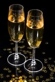 Champagne flutes stock photo